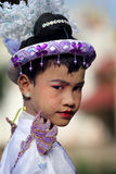 Young boy at novice ceremony, Myanmar Royalty Free Stock Image