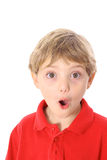 Young boy oops expression Royalty Free Stock Photos
