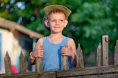 A young boy outdoor Stock Image
