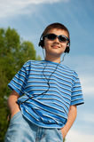 Young boy outdoors Stock Image