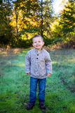 Young Boy Outdoors Portrait Royalty Free Stock Image