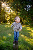 Young Boy Outdoors Portrait Royalty Free Stock Photo