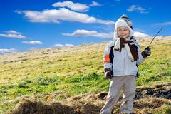 Young Boy Outside Stock Photo