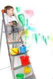Young Boy Painting Stock Photos