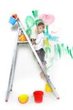 Young boy painting Royalty Free Stock Photos