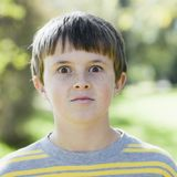 Young Boy in Park Stock Image