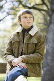 Young Boy in Park Royalty Free Stock Photo