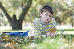 Young Boy in Park Stock Photos