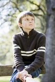 Young Boy in Park Royalty Free Stock Images