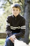 Young Boy in Park Royalty Free Stock Image