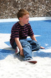 Young Boy In Park royalty free stock photography