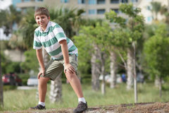 Young boy in the park Stock Photos
