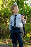Young boy in park Royalty Free Stock Photos