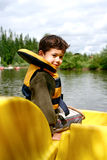 Young boy in pedalo Stock Photos