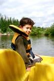 Young boy in pedalo Stock Photos