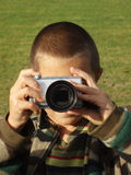 Young boy on a photo job Stock Photography