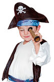 Young boy in pirate costume Stock Photos