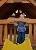 Young boy in a playground. Royalty Free Stock Photography