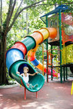 Young boy on playground Stock Photography