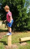 Young boy in playground Stock Photography