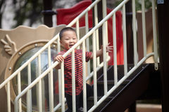 Young boy on playground Stock Image