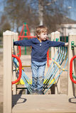 Young boy in the playground Stock Photography