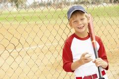 Young Boy Playing Baseball. Smiling To Camera Royalty Free Stock Photography