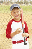 Young Boy Playing Baseball royalty free stock images