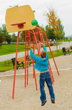 Young boy playing basketball Royalty Free Stock Image