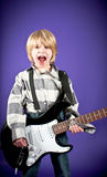 Boy playing the electric guitar Royalty Free Stock Photos