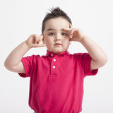 Young boy playing Royalty Free Stock Images