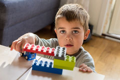 Young Boy Playing Royalty Free Stock Image