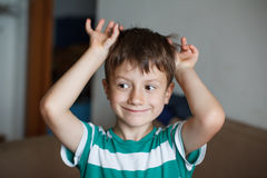 Young boy playing at home Royalty Free Stock Photography