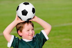 Young boy playing soccer Royalty Free Stock Image