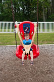 Young Boy on Playscape Stock Photos