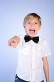 Young boy pointing Royalty Free Stock Image