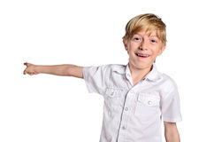 Young boy pointing Royalty Free Stock Photo