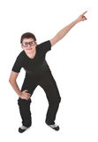 Young boy pointing up Royalty Free Stock Photos