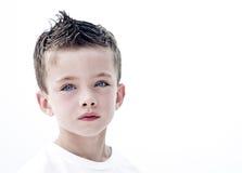 Young boy portrait. High key young boy portrait Stock Image