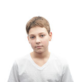 Young boy portrait isolated Royalty Free Stock Photography