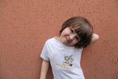 Long hair toddler Boy  Stock Images