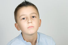 Young boy. Portrait of a serious young boy Stock Photography