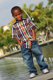 Young Boy Posing Royalty Free Stock Photography