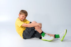 Young Boy Posing in a hat Royalty Free Stock Image