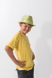 Young Boy Posing in a hat Royalty Free Stock Images