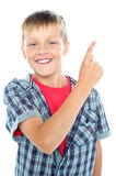 Young boy posing on white background Stock Photography