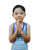 Young boy praying Royalty Free Stock Photos