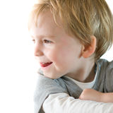 Young boy profile portrait Royalty Free Stock Images