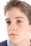 Young boy profile shot Stock Images