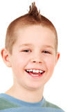 Young boy with punk hairstyle Royalty Free Stock Photography